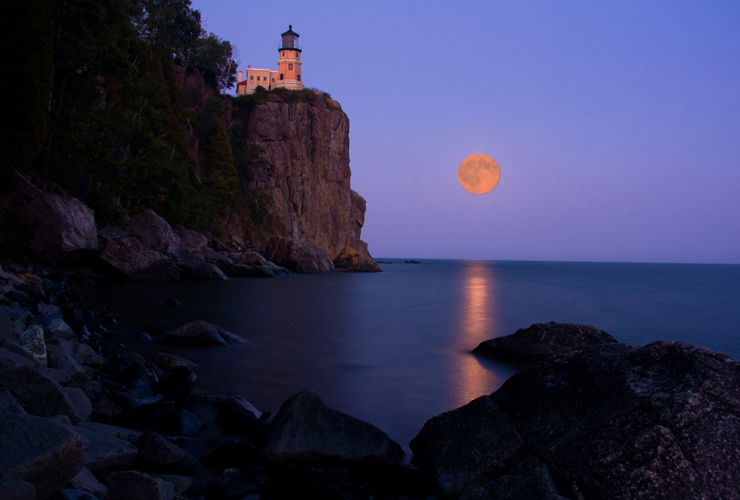Split Rock Lighthouse - Full Moon - Let There Be Light Fine ArtLet There Be Light Fine Art Photography & Split Rock Lighthouse - Full Moon - Let There Be Light Fine ArtLet ...