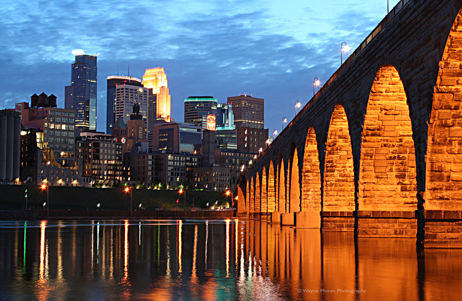Minneapolis Skyline Photography The Stone Arch Bridge