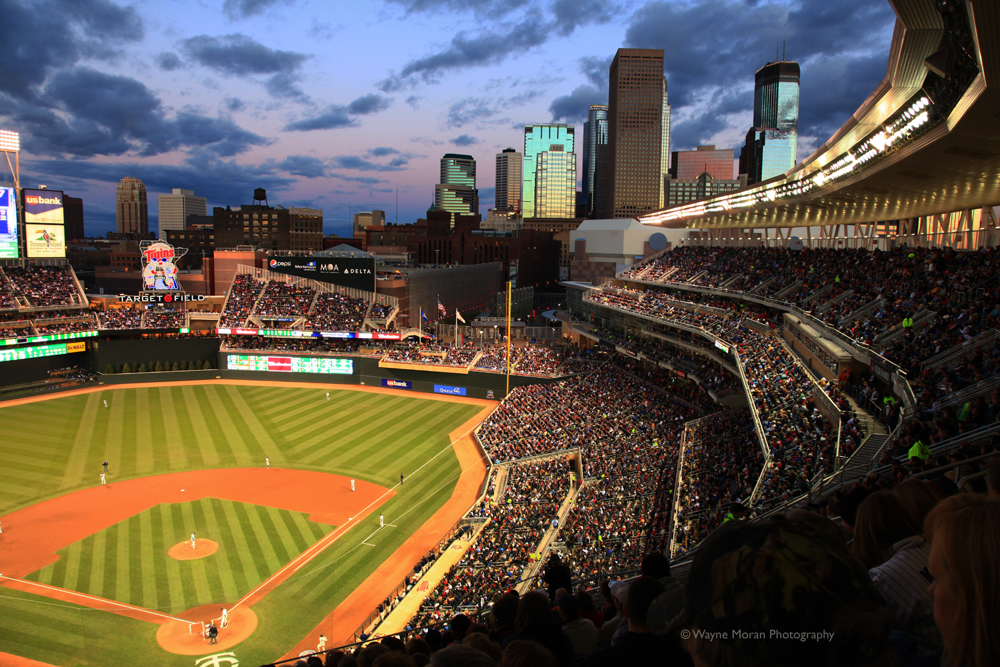 Minneapolis Skyline Photography  Target Field Twins Stadium