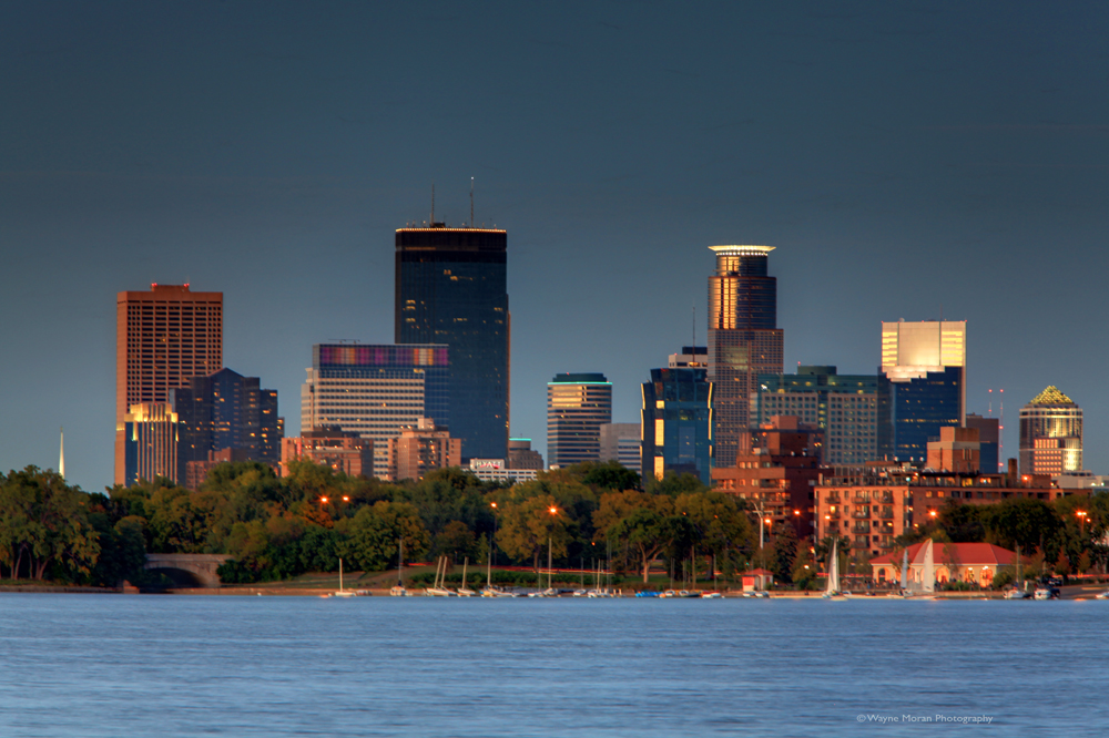 Minneapolis Skyline Photography Lake Calhoun summer evening