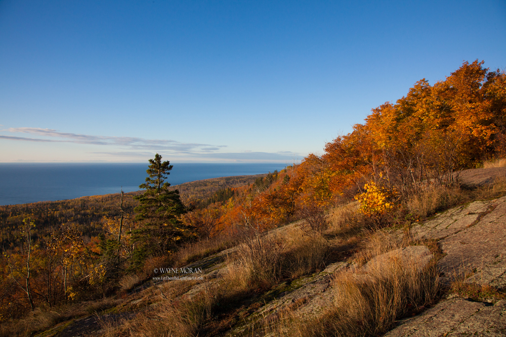 View of Lake Superior from Oberg Mountain Autumn Photography on the North Shore of Lake Superior Minnesota