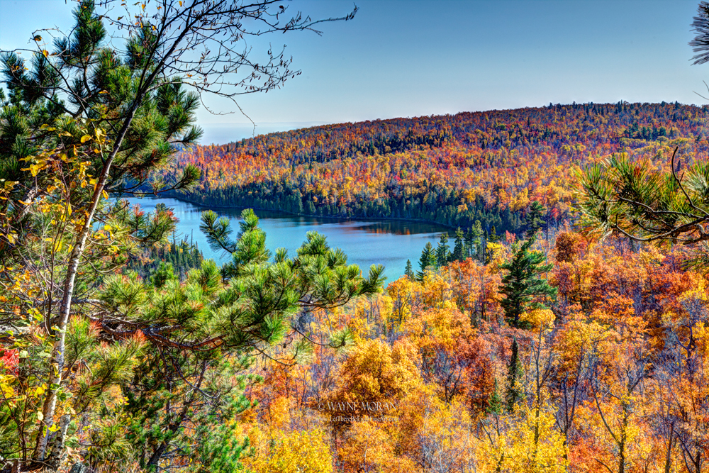 Overlooking Lax Lake Tettegouche state park Autumn Photography on the North Shore of Lake Superior Minnesota