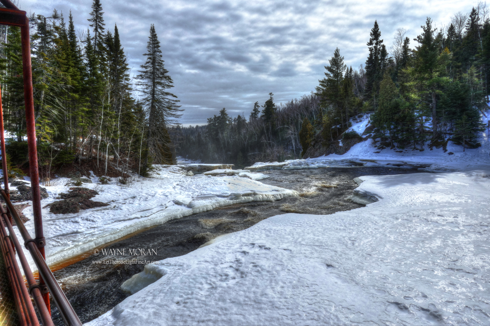 North Shore Lake Superior Winter Weekend - Baptism River High Falls in Tettegouche State Park