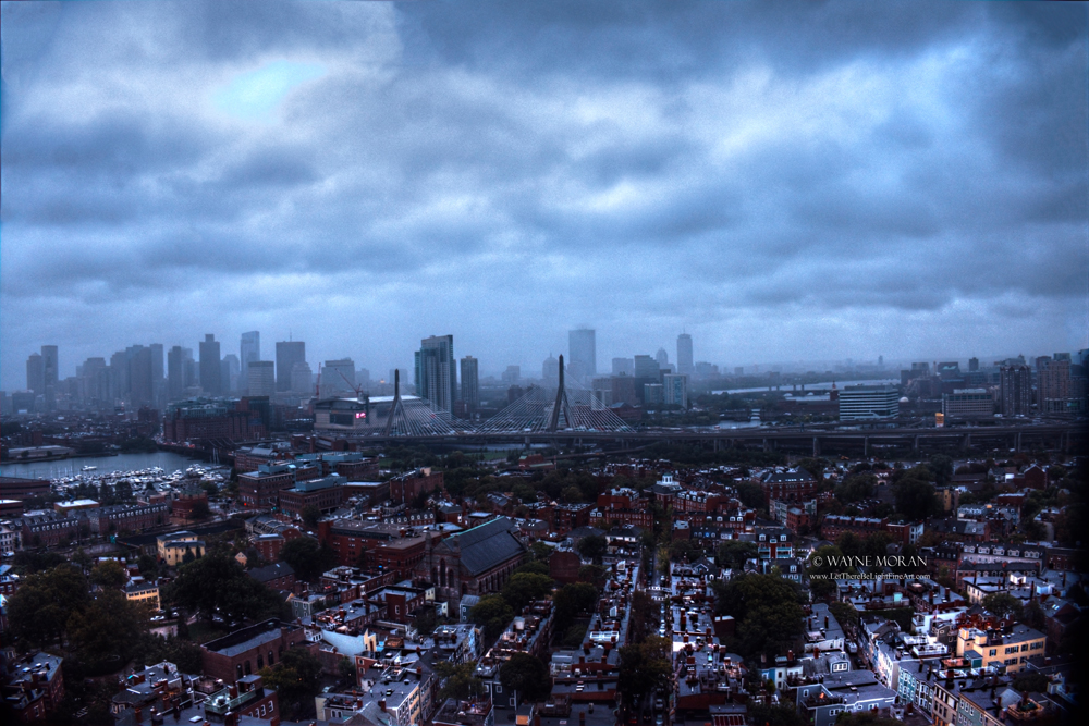The Best Boston Freedom Trail Travel Tips Boston Skyline Viewed from Top of Bunker Hill Monument