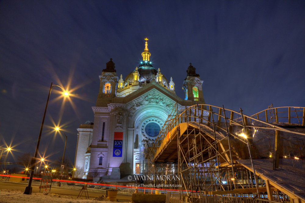 Cathedral of St Paul All Dress Up For Red Bull Crashed Ice - 7 Best Tips for Winter Photography